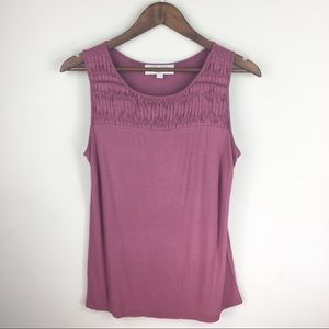 LOFT sleeveless round neck top